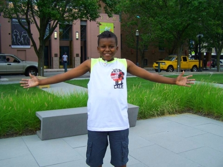 This young man took part in our summer program, providing free cuts to young men and grooming kits.